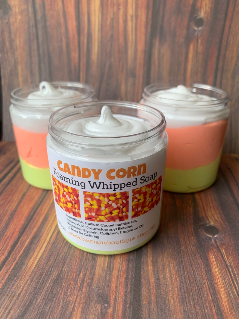 Candy Corn Whipped Soap