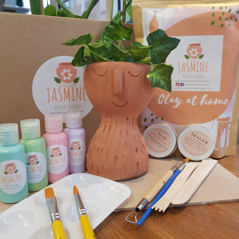 Clay Pottery Kit for Two