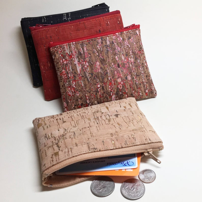 Cork Leather Coin Pouch