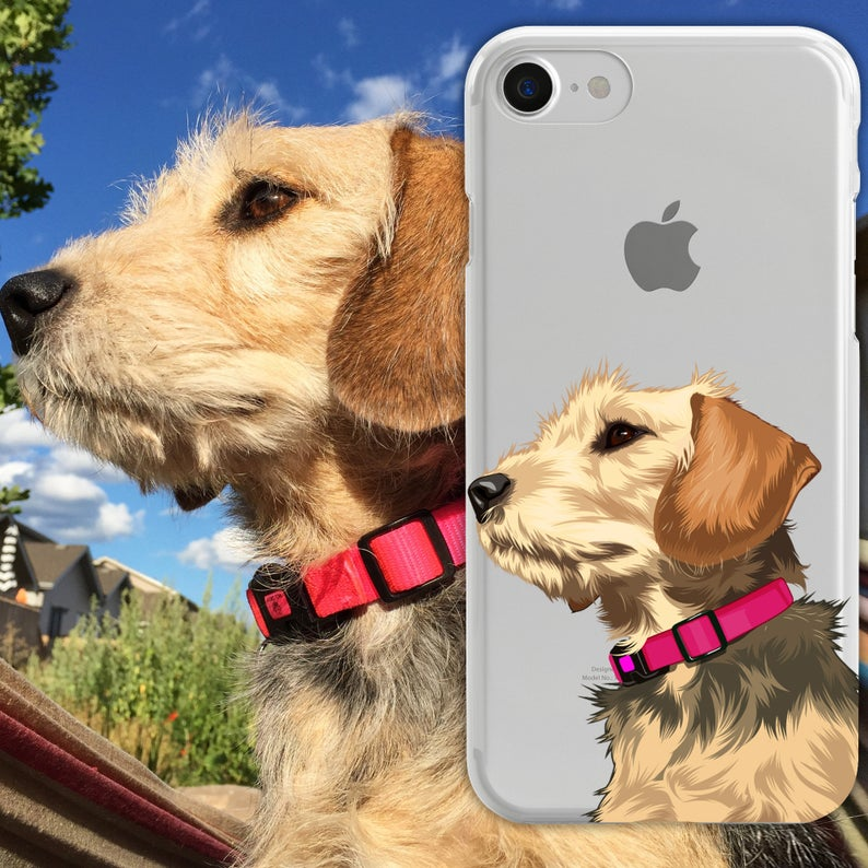 Customized Dog Illustrated Phone Case