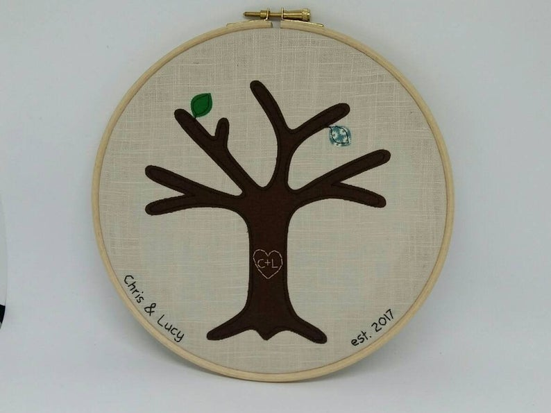 Embroidered Tree Frame