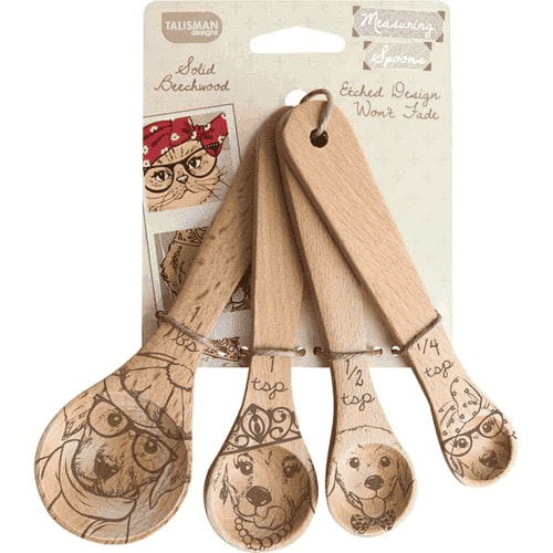 Etched Dog Measuring Spoons