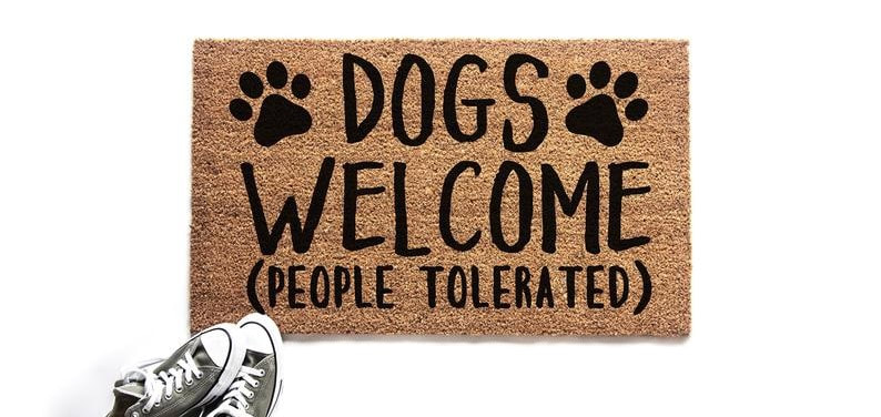 Funny Dogs Welcome Doormat