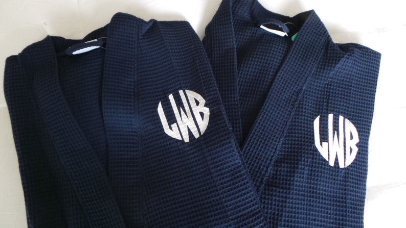 Couples Monogrammed Spa Robes