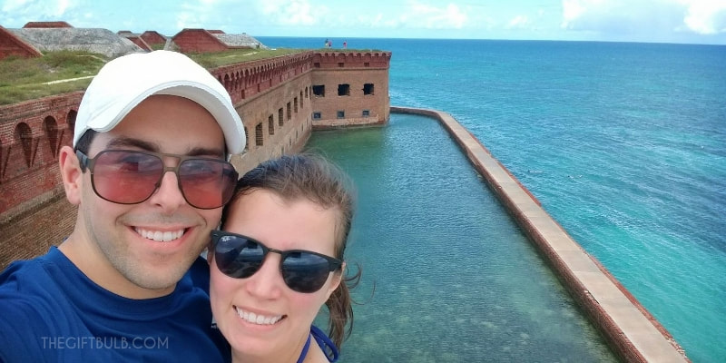 On the Battlements of Fort Jefferson at the Dry Tortugas National Park
