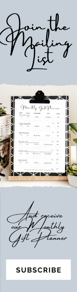 Monthly Gift Planner
