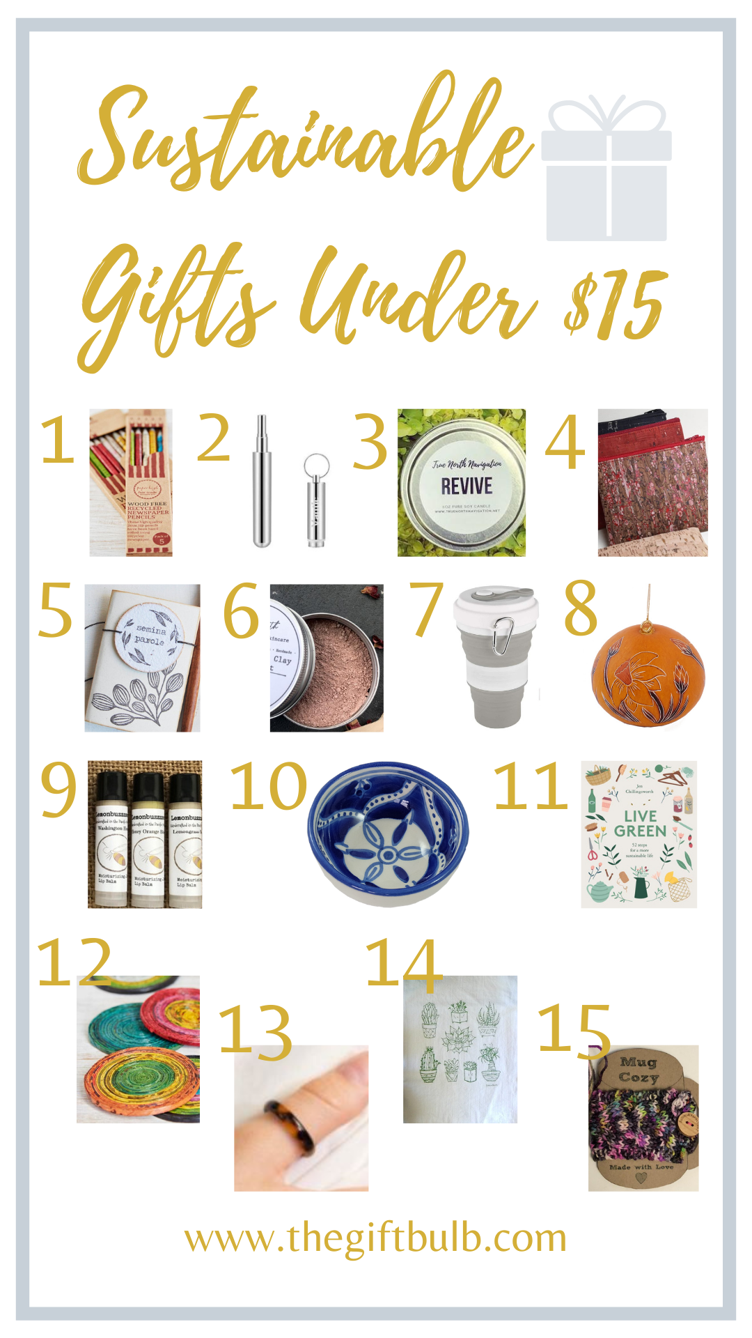 Sustainable Gifts Under $15