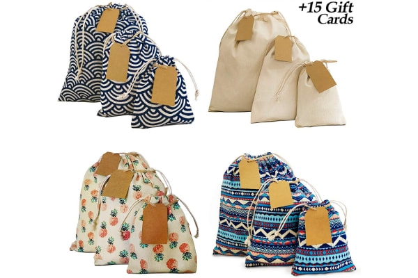 Assorted Fabric Gift Bags
