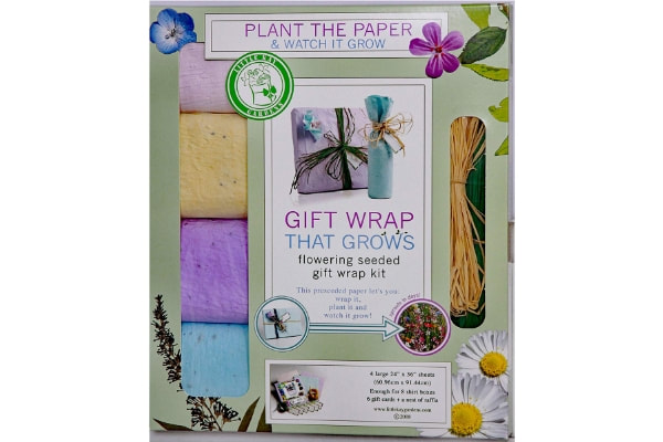 Gift Wrap That Grows and Blooms