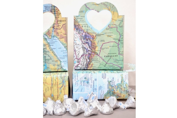 Vintage Map Gift Bags